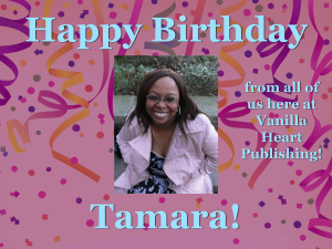 Tamara Birthday card